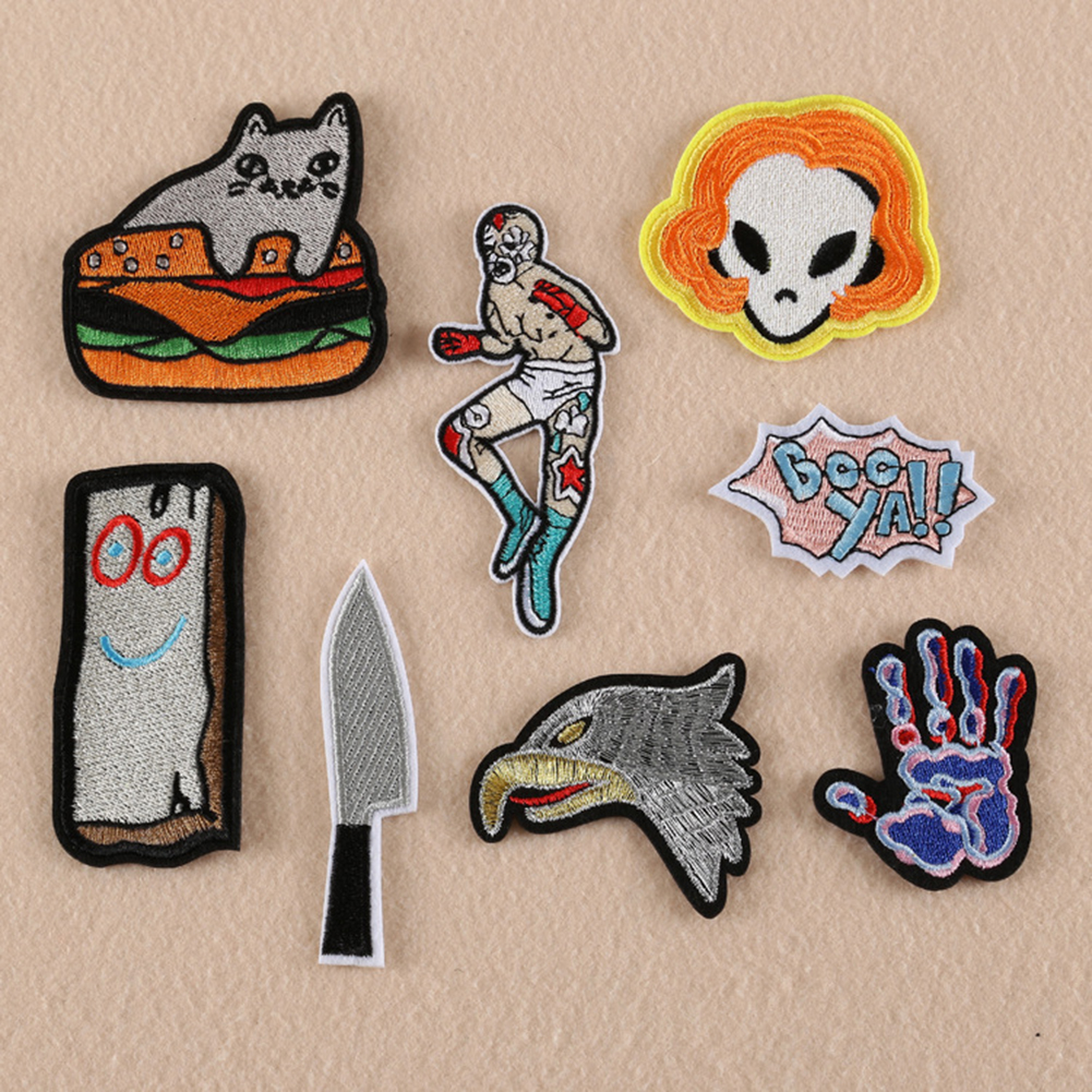 Micelec Embroidered Sew/Iron On Patches Badge Fabric Bag Applique Transfer DIY Craft