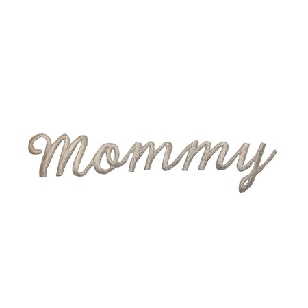 Mommy Letters White Ivory 4 3/8