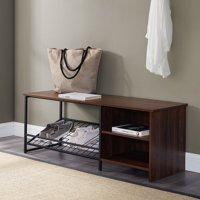 Clinton Dark Walnut Entry Bench with Shoe Storage by River Street Designs, Multiple Colors