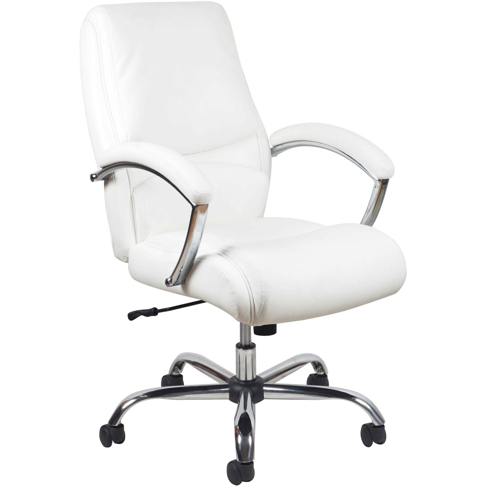 White Office Chairs - Essentials by ofm ergonomic high back leather executive office chair with arms white chrome walmart com