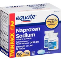 Equate Naproxen Sodium 220 mg Pain Relief Tablets, 150 Count