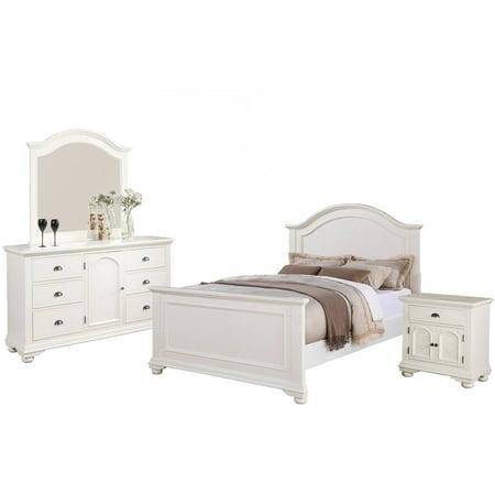 Picket House Furnishings Addison White Panel Bedroom Set, Multiple Sizes  and Configurations