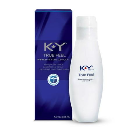 K-Y True Feel Premium Silicone Lubricant, Long Lasting and Non-irritating - 4.5 fl oz