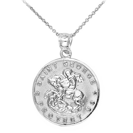 Sterling silver saint george coin pendant necklace walmart sterling silver saint george coin pendant necklace aloadofball Image collections