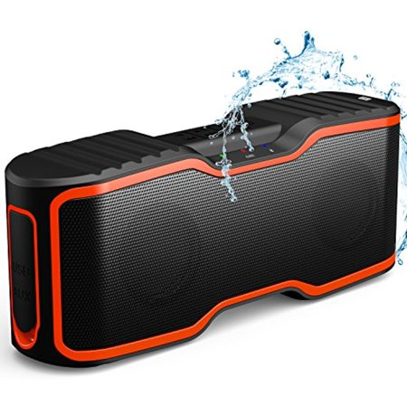 AOMAIS Sport II Portable Wireless Bluetooth Speakers 4.0 with Waterproof IPX7,20W Bass Sound,Stereo Pairing,Durable Design for iPhone /iPod/iPad/Phones/Tablet/Laptops/Echo dot,Good Gift(Orange)