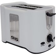 Toaster 2-Slice,Multifunction Breakfast Machine,6 Adjustable Browning Control, With Defrost/Reheat/Cancel Function,Extra Wide Slot, Easy to Clean (Color : White)