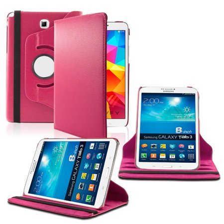 Samsung Galaxy Tab A 8.0 / T350 / T355 360 Rotating Leather Cover Pink ()