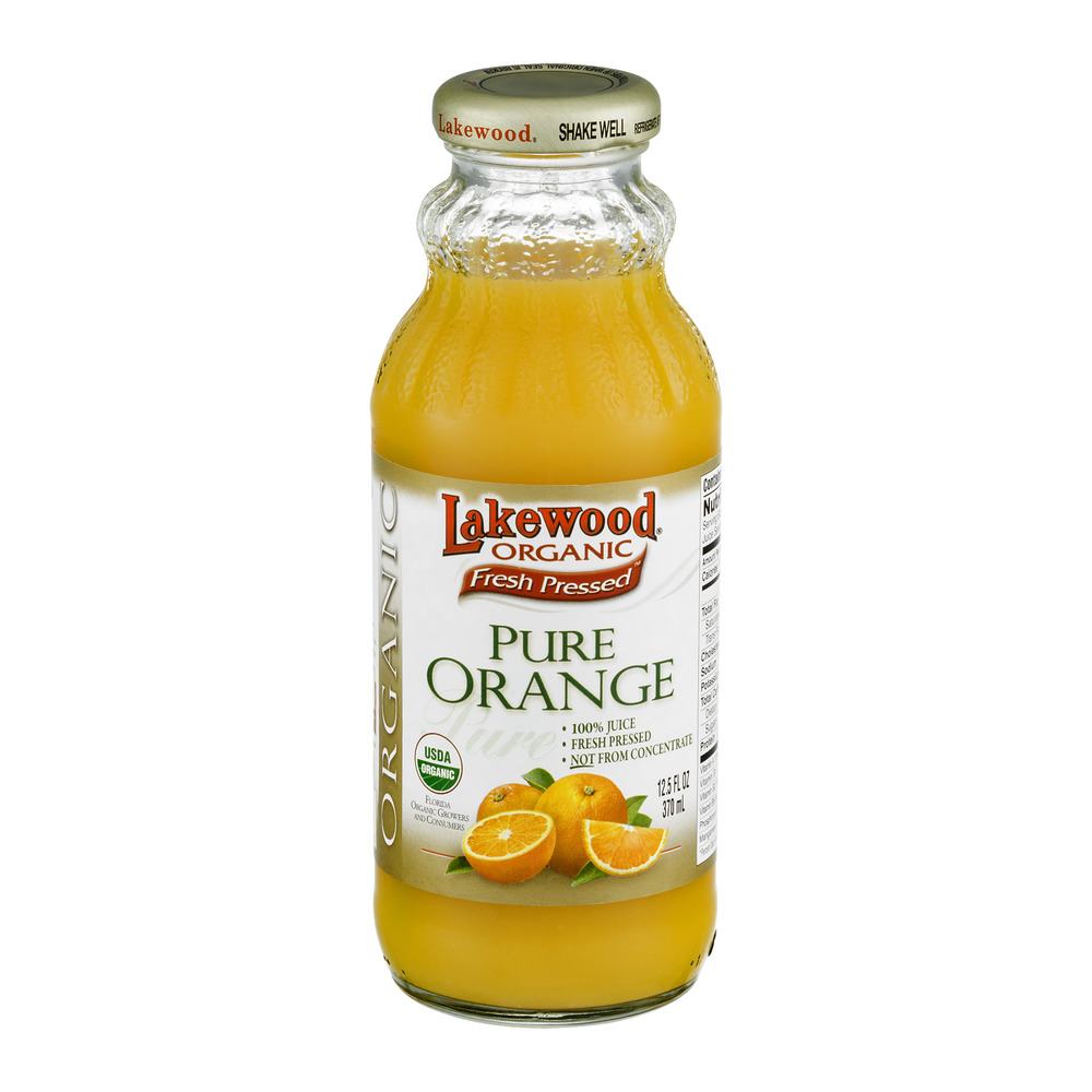 Lakewood Organic Fresh Pressed Pure Orange Juice, 12.5 FL OZ