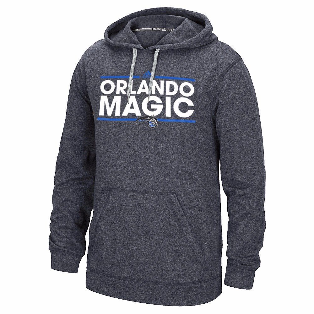 "Orlando Magic NBA Adidas Grey Ultimate Hood Climawarm Performance ""Dassler"" Team Graphic Pullover Hoodie For... by Adidas"
