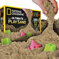 National Geographic Ultimate Play Sand, 6 lbs with 6 molds (Multiple Colors)