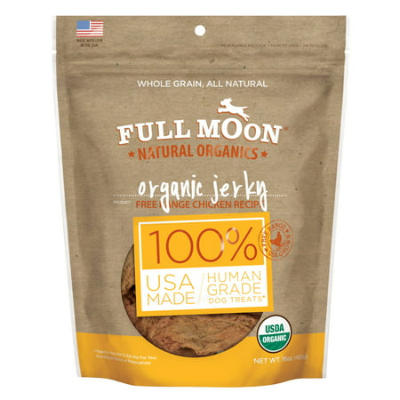 Full Moon All Natural Human Grade Dog Treats, Chicken Jerky, 16 Ounce](Halloween Moon Pie Treats)