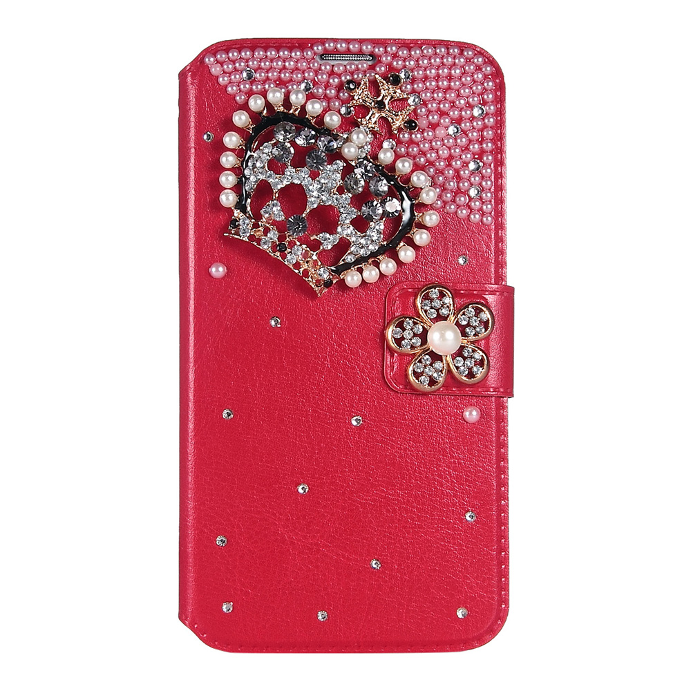 """ULAK Galaxy S5 Case Bling Wallet Case with Cute Rhinestone and Credit Card Slots + Media Stand + Synthetic Leather Construction for Samsung Galaxy S5 (5.1"""" inch) 2014 Release"""