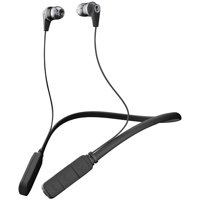 Skullcandy S2IKW-J509 Ink'd Bluetooth Earbuds with Microphone (Black/Gray)