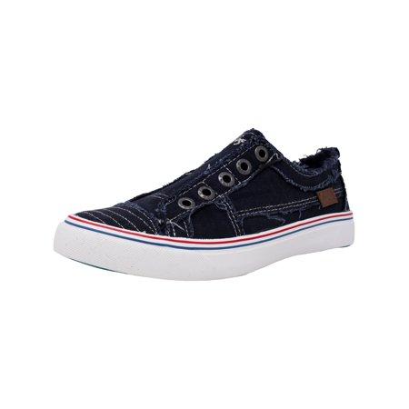 3466e14014ef Blowfish - Blowfish Women s Play Navy Ankle-High Canvas Fashion Sneaker -  9M - Walmart.com