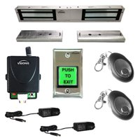 FPC-5199 One Door Access Double Door 1,200lbs Electromagnetic Lock with Visionis Wireless Receiver and Remote Kit