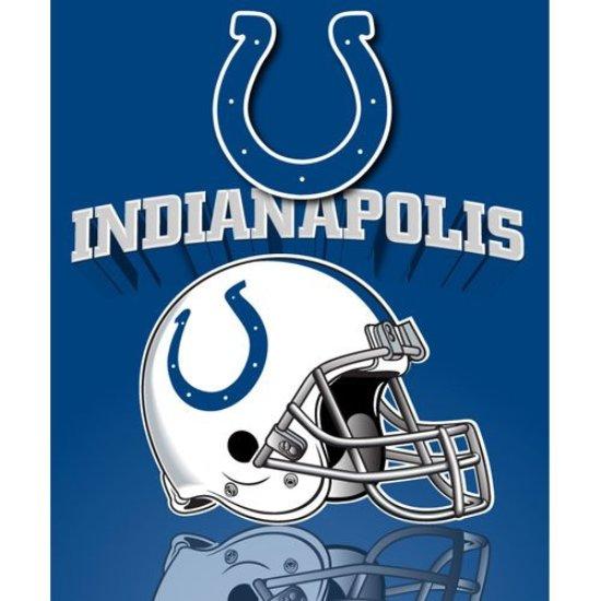 Indianapolis Colts NFL 50x60 Fleece Throw Blanket