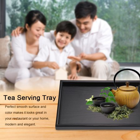 HURRISE Rectangle Shape Solid Wood Tea Coffee Snack Food Meals Serving Tray Plate Restaurant Trays - image 8 de 8