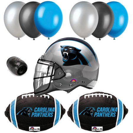 Carolina Panthers NFL Football Helmet Balloon Super Bowl Party 10pc Pack