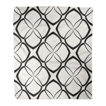 HATIART Flannel Throw Blanket Flower Geometric Abstract Classic Intersecting Elegant Grid Pattern Vintage Soft for Bed Sofa and Couch 50x60 Inches - image 1 of 1