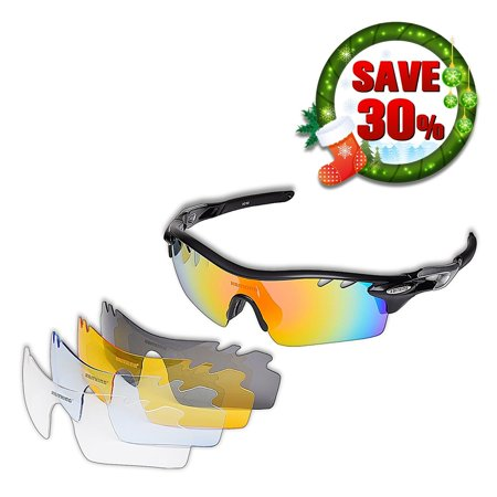 KastKing Coso Sport Sunglasses, 4 Interchangeable Colors with Polarized Lenses, Ultimate Safety Impact Resistant, UV Eye Protection, Unbreakable TR90 Frame (Silber)