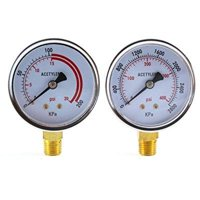 Low and High Pressure Gauges for Acetylene Regulator - 2.5 inches (PAIR)