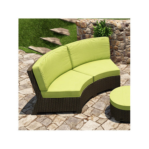 Forever Patio Barbados Curved Sofa with Cushions