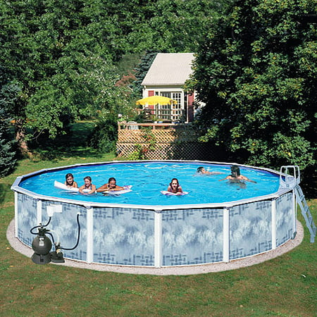 Heritage round 18 39 x 52 above ground swimming pool for Round swimming pools above ground