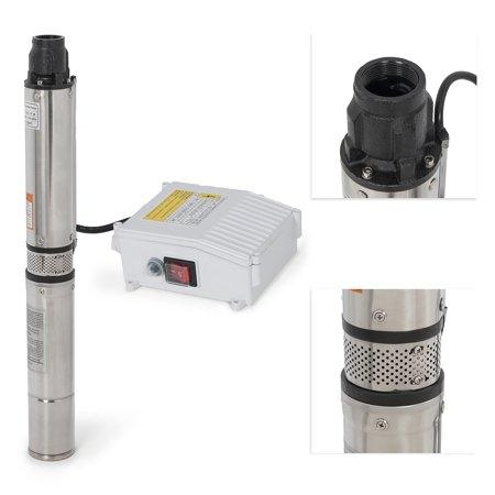 Arksen Deep Well Submersible Pump   Control Box  1 Hp  110V  60Hz   33Gpm  200Ft Head  Stainless Steel  4