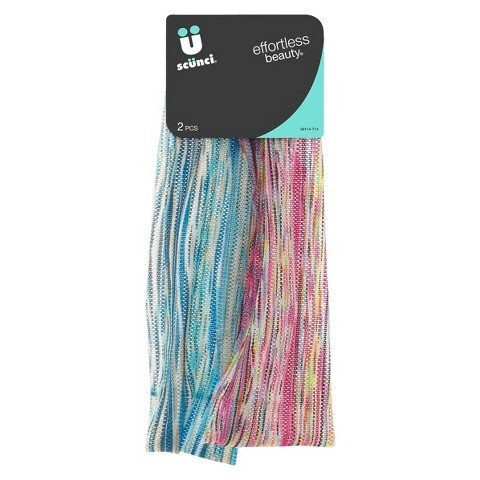 Scunci Wide Soft Stripe Headbands - 2 Count
