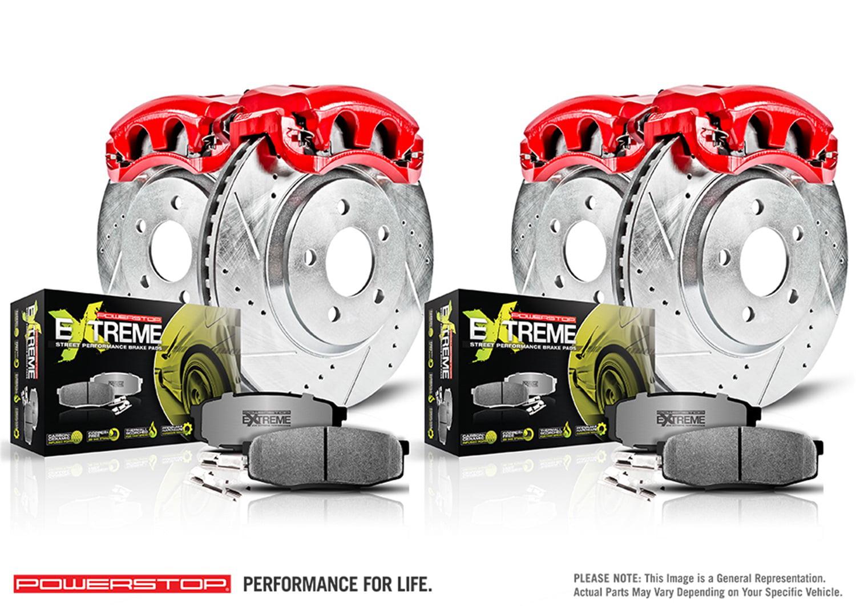 Ceramic Pad 2006 2007 2008 2009 Trailblazer Envoy Front Rear DRILL Brake Rotor