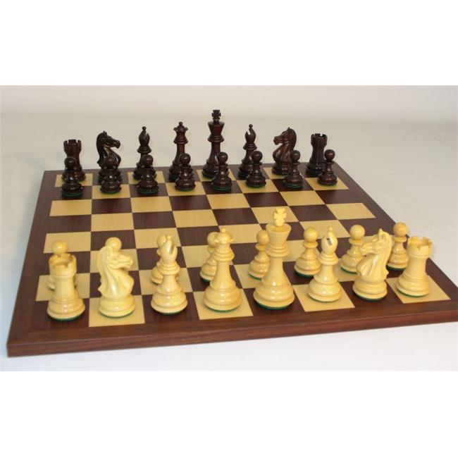 WW Chess 37RPRO-DR Rosewood Pro on Dark Rosewood Board by WW Chess
