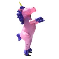 ALEKO Halloween Inflatable Party Costume - Pretty Pink Unicorn - Adult Sized