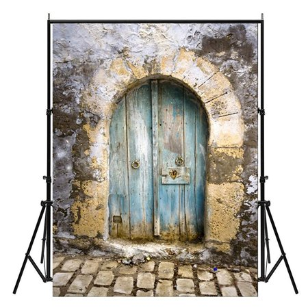 NK HOME Studio Photo Video Photography Backdrop 5x7ft Outdoor Scenic Stone Door Style Printed Vinyl Fabric Background Screen Props - Stone Backdrop