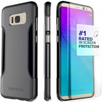 SaharaCase Galaxy S8 Plus Case, Classic Protection Kit with ZeroDamage Tempered Glass – Gray