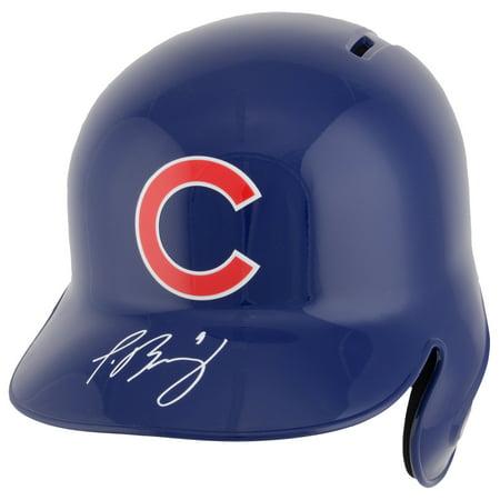 Chicago Cubs Autographed Helmets - Javier Baez Chicago Cubs Fanatics Autographed Replica Batting Helmet - No Size