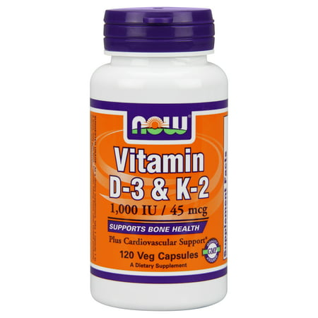 NOW Foods Vitamin D3 & K2 Now Foods 120 Vegetable (Foods That Create Mucus Foods That Eliminate Mucus)