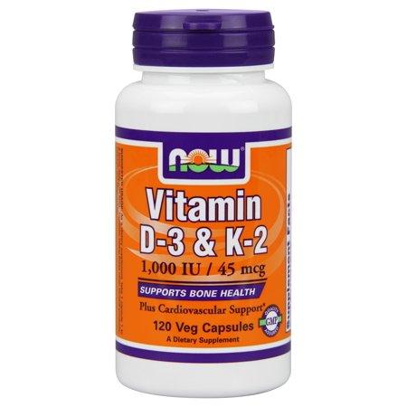 NOW Foods Vitamin D3 & K2 Now Foods 120 Vegetable Capsules
