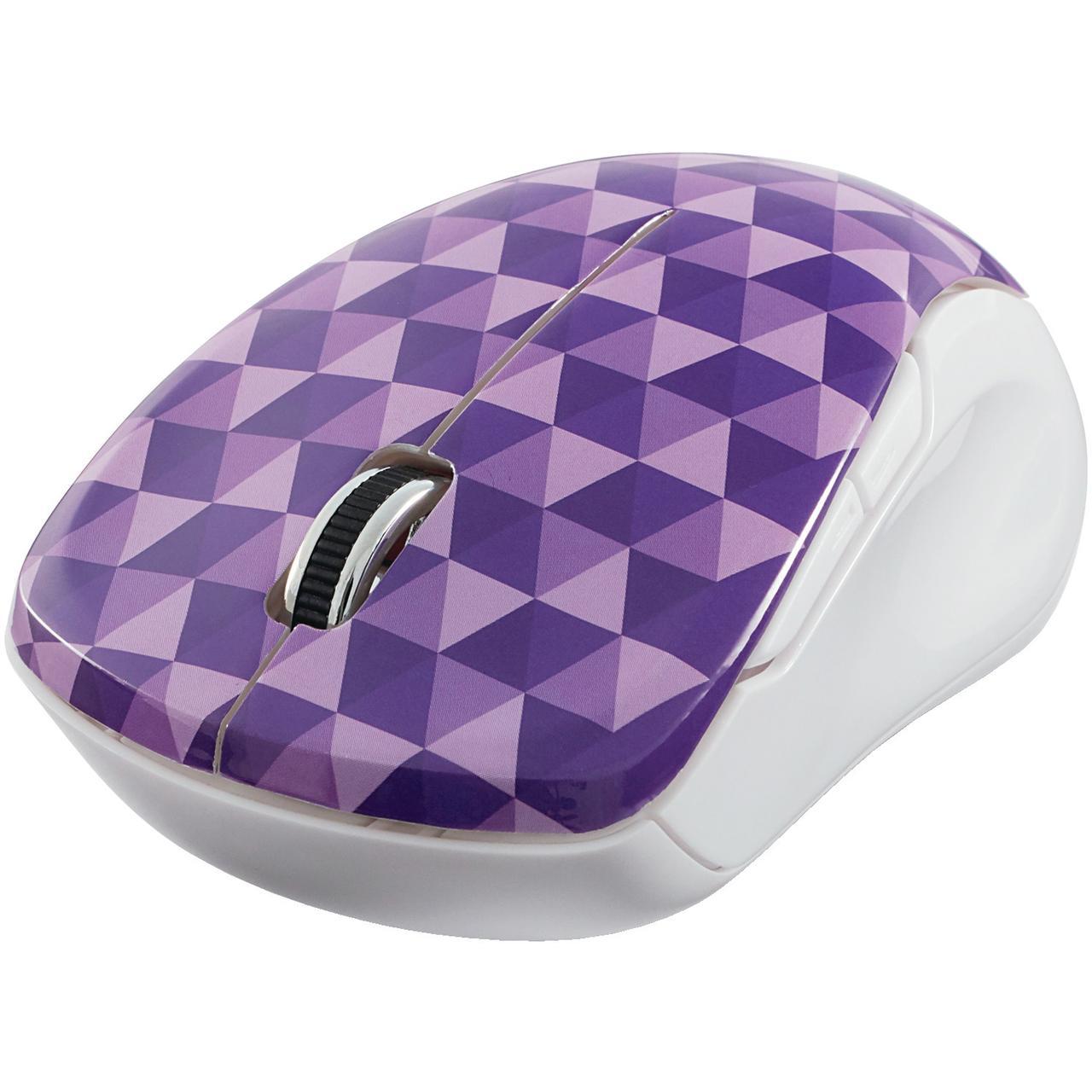 Verbatim 99746 Wireless Notebook Multi-Trac Blue LED Mouse (Diamond Pattern; Purple)