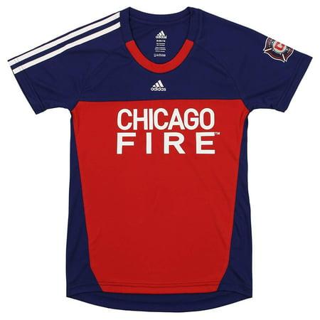 Adidas MLS Youth Girls Chicago Fire Goalie Performance Tee Shirt