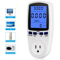 Yosoo Consumption Analyzer,Home Electricity Usage Monitor Power Meter Energy Watt Volt Consumption Analyzer