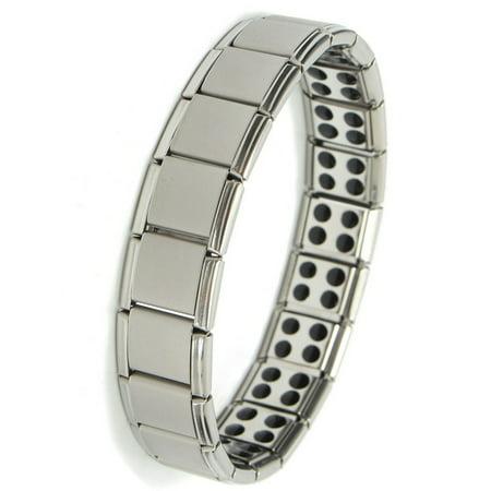 Men Magnetic Titanium Steel Therapy Energy Bracelet Health Care Gift