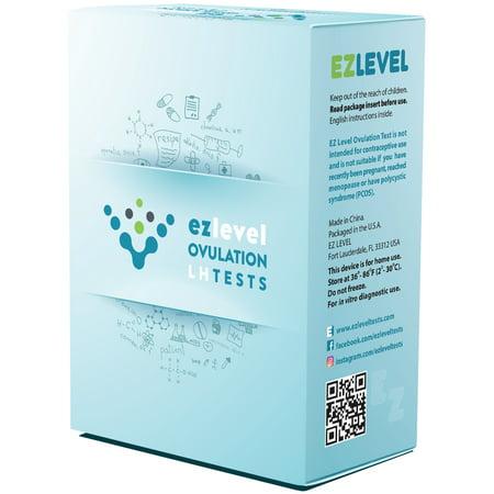 EZ Level 50 Ovulation Test Strips LH Surge Predictor Kit (50