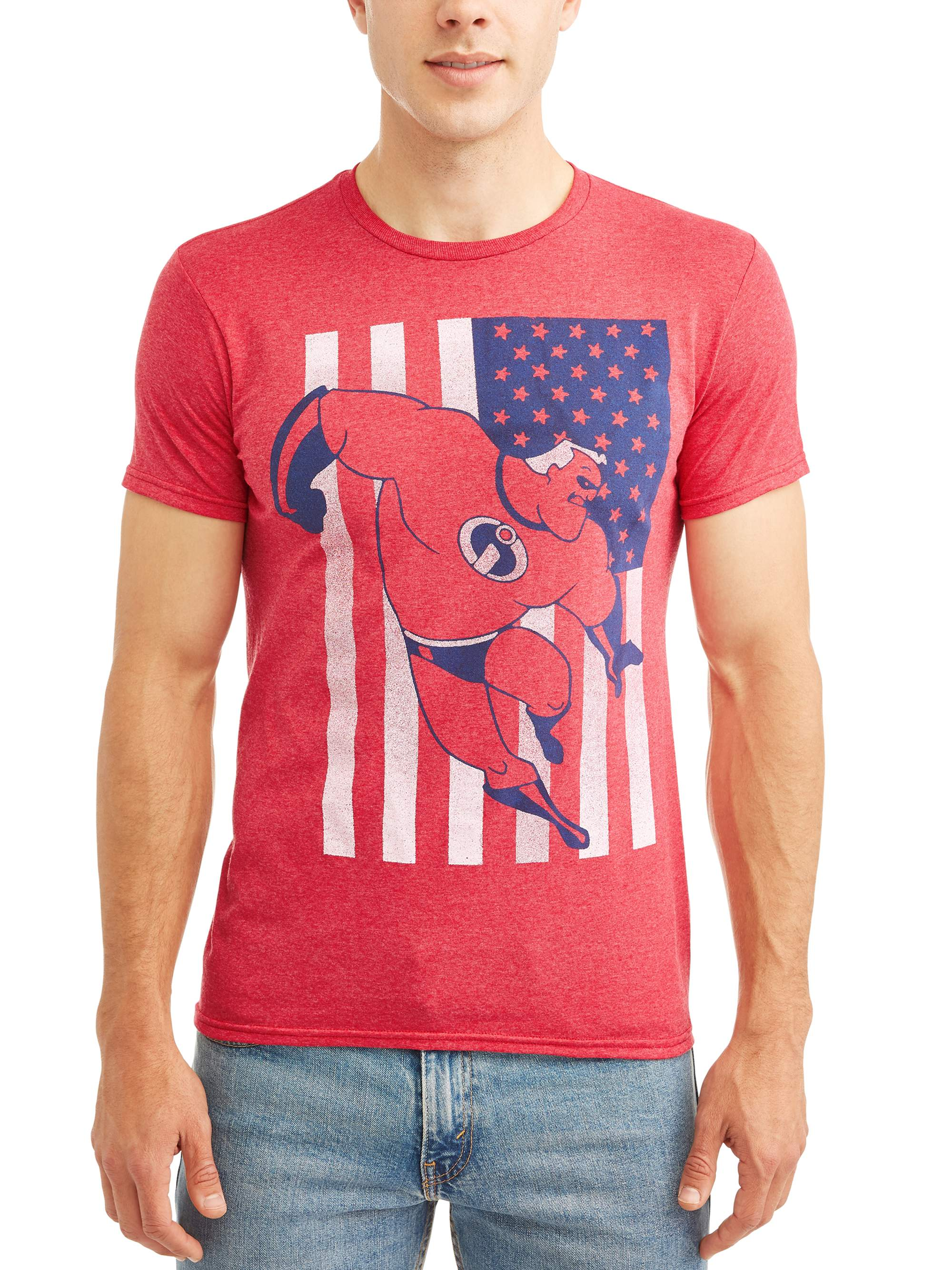 Incredible Flag Men's Graphic T-shirt, up to Size 2XL