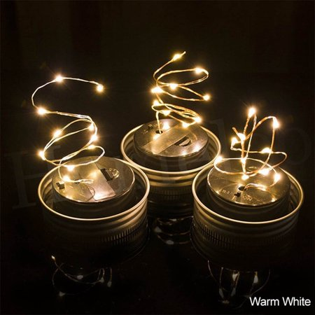 VicTsing 1M 10LED Solar Mason Jar Lights LED Fairy Light String Lights Garden Decor (Bottle NOT Included) one Pack (Warm White) (Jaw String)