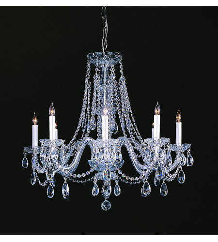 Crystorama 1138-CH-CL-MWP Eight Light Chandelier by Crystorama
