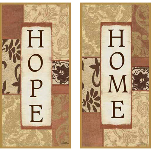 Wall Art Set Of 2 hope and home plaque wall art, set of 2 - walmart