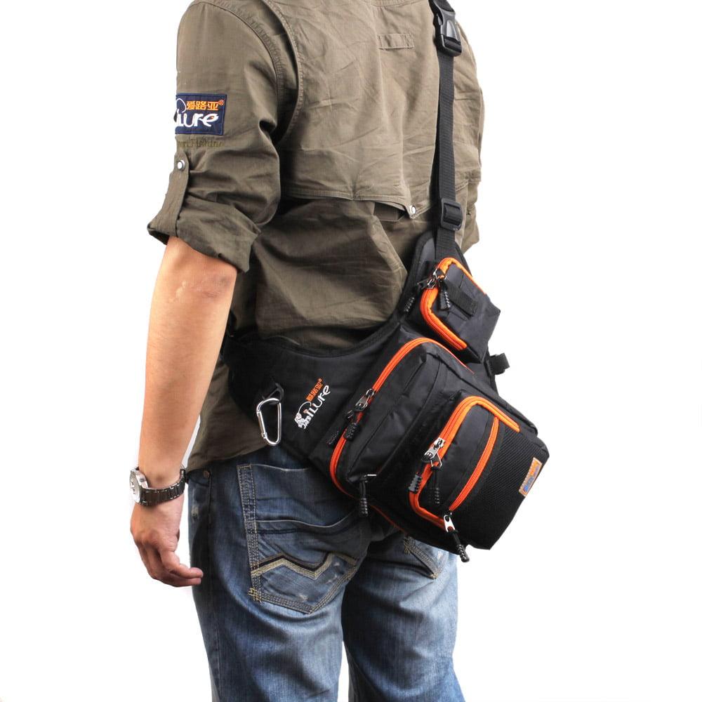 Large Fishing Reel Lures Box Waterproof Bag Storage Adjustable Shoulder Strap