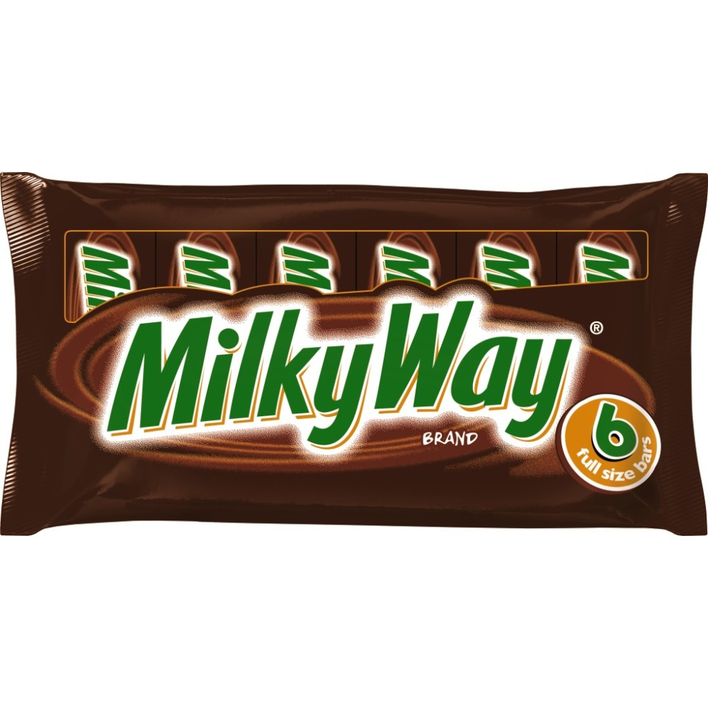 MILKY WAY Milk Chocolate Full Size Candy Bars Pack, 1.84 oz 6 Pack