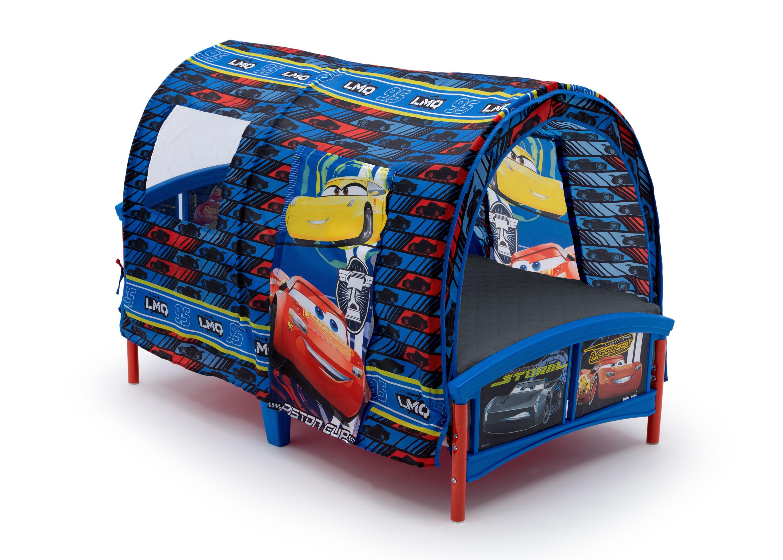 Delta Children Disney Pixar Cars Plastic Toddler Canopy Bed Blue