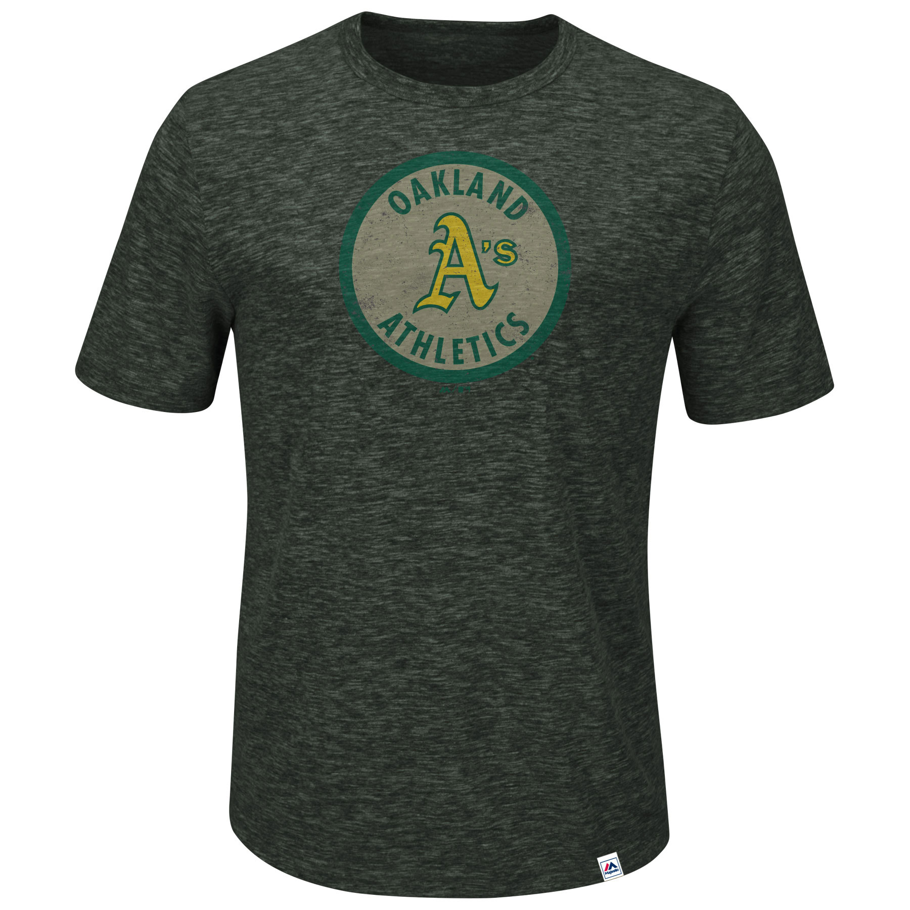 Oakland Athletics Majestic Big & Tall Cooperstown Collection Back in the Day T-Shirt - Charcoal - 2XLT